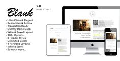 Blank - Elegant Minimalist WordPress Blog Theme . Blank has features such as High Resolution: Yes, Widget Ready: Yes, Compatible Browsers: IE8, IE9, IE10, IE11, Firefox, Safari, Opera, Chrome, Edge, Compatible With: Bootstrap 2.2.2, Software Version: WordPress 4.4, WordPress 4.3.1, WordPress 4.3, WordPress 4.2, WordPress 4.1, WordPress 4.0, Columns: 2
