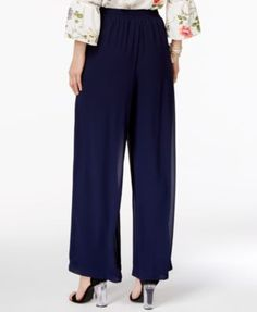 Ny Collection Drawstring-Waist Palazzo Pants - Tan/Beige L