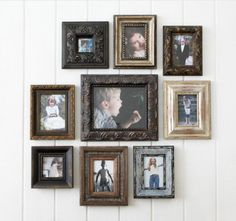 I have a minor obsession with eclectic picture frames. When grouped together different styles become greater than the individual frames.