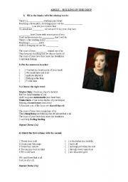 English worksheet: Adele - Rolling the deep
