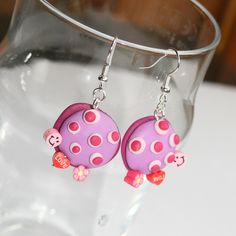 Peculiar Planet Pink Peace and Love Earrings by Strawberry Anarchy, via Flickr