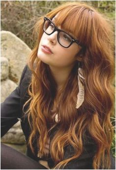 Love the hair color and the glasses!!