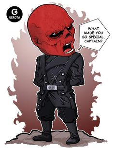 Red Skull - Chibi Art by Gregory Indrakusuma (Gerota)