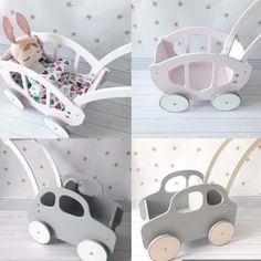 Perfect pram, push car, walker, carriage, for girls and boys. We love wooden handmade toys at www.babyuniquecorn.com