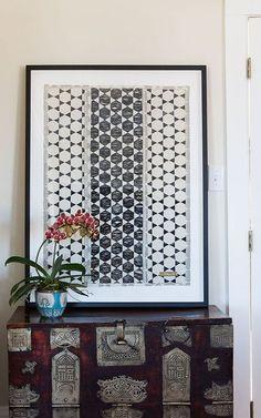 Modern Black & White Wall Art - I love that chest!