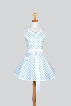 Etsy listing at https://www.etsy.com/listing/181975051/sweetheart-retro-apron-retro-cute-womens