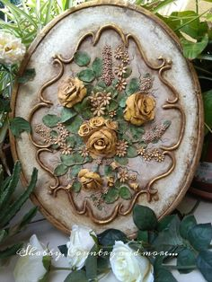 Vintage yellow roses on canvas....