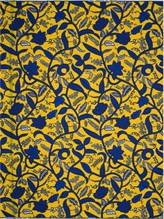 Vlisco leaf trail. Dutch wax block print. 100% cotton.