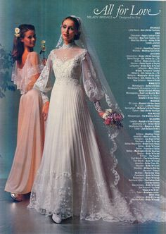 I love the sleeves and the pleats! Vintage Outfits, Vintage Dresses, Vintage Fashion, Wedding Attire, Wedding Gowns, 1980s Wedding Dress, Vintage Bridal, Vintage Weddings, Vintage Mode