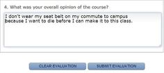 course evaluations are anonymous... right guys?... guys? - Imgur....  some classes