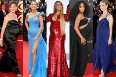 Beyoncé, Meryl Streep, and More Celebrities Who've Appeared on the Red Carpet Pregnant Celebrity Maternity Style, Celebrity Dresses, Celebrity Style, Maternity Wear, Maternity Dresses, Maternity Fashion, Red Carpet Dresses, Blue Dresses, Blake Lively Pregnant