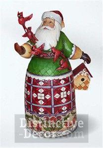 Jim Shore Santa with Cardinals & Birdhouse Figurine 49.99