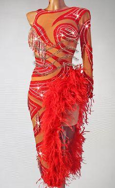 Women Latin Smooth Rumba Rhythm Salas Competition Dance Dress US 8 UK 10 Ballroom Costumes, Dance Costumes, Latin Ballroom Dresses, Ballroom Dance, Costume Dress, Dance Outfits, Ladies Dress Design, Dance Wear, Dancers