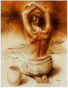 Jackson Hole Art Auction: Karin's Back Figure Painting, Figure Drawing, Woman Painting, Erotic Art, Figurative Art, Female Art, Watercolor Art, Fantasy Art, Art Drawings
