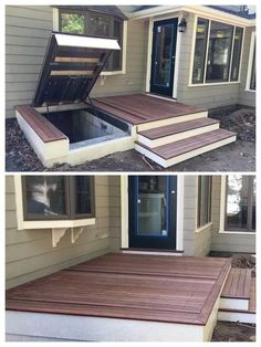 LuciGold will match your existing structure to hide access to your cellar under your patio, porch or deck. Learn More: (…, to build an Outdoor Kitchens LuciGold will match your existing structure to hide access to your cellar under your patio, p. Future House, My House, House Wall, Home Renovation, Home Remodeling, Basement Renovations, Backyard Patio, Backyard Shade, Backyard Privacy