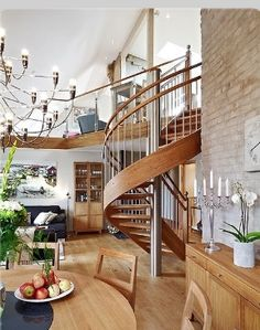 Amazing living room and Stair case