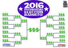 Here's pretty much a sure thing bracket as to who's gonna win in the 2016 Presidential race. My money's on the money!