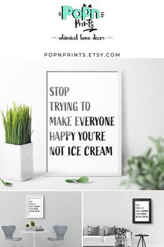 Candy Art Digital Prints for Birthday Gift, Sarcastic Kitchen Wall Art as Printable Art, Typography Printable Quotes Home Decor - Zacherie Bitchener Printable Quotes, Printable Art, Printing Services, Online Printing, Quote Prints, Poster Prints, Ice Cream Quotes, Funny Bathroom Decor, Quirky Home Decor