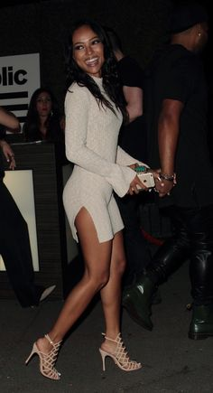 "chraesource: ""AUGUST 30: Karrueche at Republic Records VMA after party at Ysabel restaurant in Hollywood. """