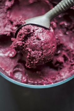Concord Grape Sorbet With Rosemary and Black Pepper from The Nourished Kitchen
