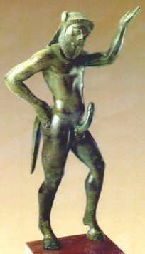 Etruscan satyr. The ancient civilizations really liked their phalluses; especially home decoration.