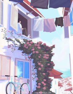 𝓛𝓲𝓷 - Anime Gifs Art by Art And Illustration, Anime Kunst, Anime Art, Pretty Art, Cute Art, Aesthetic Art, Aesthetic Anime, Pixel Art, Arte 8 Bits