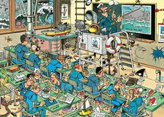 Navy Cadet Training (Zeeschool) B Image, Illustration Story, Picture Writing Prompts, Puzzle Art, Comic Drawing, Cartoon Art Styles, Illustrations And Posters, Funny Art, Pixel Art