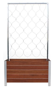 DeepStream Designs Jatoba wooden planter with trellis Balcony Privacy Screen, Privacy Walls, Wire Trellis, Garden Trellis, Backyard Patio, Backyard Landscaping, Planter Liners, Commercial Planters, Fiberglass Planters