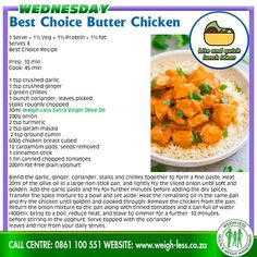 Weigh-Less Best Choice Recipe Buttermilk Oven Fried Chicken, Butter Chicken, Healthy Eating Recipes, Cooking Recipes, Healthy Life, Healthy Food, Veg Curry, Food Journal, Fries In The Oven