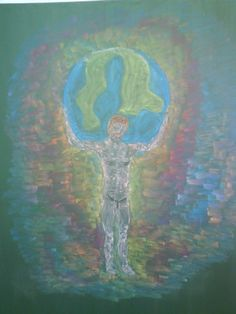 Waldorf ~ 5th grade ~ Ancient Greece ~ Atlantis ~ chalkboard drawing