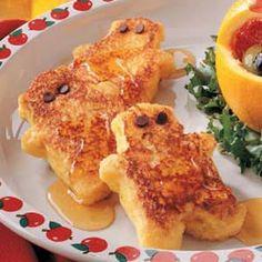 Honey Bear French Toast Recipe - so cute for the kids!  http://www.stockpilingmoms.com/2012/07/honey-bear-french-toast-recipe/