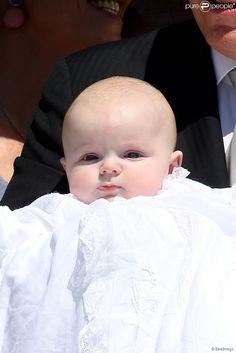 La princesse Gabriella de Monaco - Baptême des enfants Monaco le 10 mai 2015
