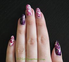 Mielenmaisemia - Violetti marmorointi