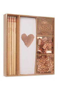 Primark - Copper Stationery Set