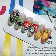 Красивые ногти. Маникюр. DivaNail Tina's Nails, Red Nails, Cute Nails, Manicure Nail Designs, Nail Manicure, Nail Art Designs, Autumn Nails, Fall Nail Art, Nail Stencils