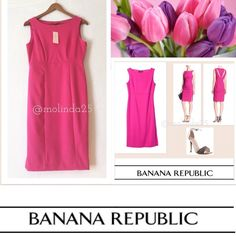 FINAL PRICE  Banana Republic Dress Banana Republic Dress  Beautiful pink  71% Polyester, 25% Rayon, 4% Spandex Machine wash  Imported  Boat neck  Side-seam exposed zipper, side slits, & back cut-outs  Please no trades or pp. Banana Republic Factory. Banana Republic Dresses