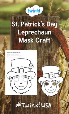 Use this St. Patrick's Day Leprechaun Mask Craft in your preK, kindergarten, grade, or grade classroom to create a brightly colored mask! Use as part of a St. Patrick's Day party activity or just for fun! San Patrick, Mask Template, 2nd Grade Classroom, Helping Children, Party Activities, Leprechaun, Fine Motor Skills, St Patricks Day, Colored Pencils