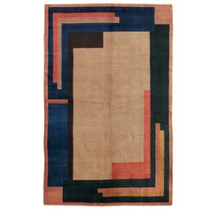 Vintage European Art Deco Rug | From a unique collection of antique and modern more carpets at https://www.1stdibs.com/furniture/rugs-carpets/area-rugs-carpets/