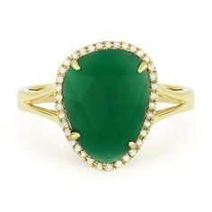 2.74ct Fancy Checkerboard Green Agate & Round Cut Diamond Halo Right-Hand Ring in 14k Yellow Gold - AlfredAndVincent.com