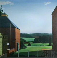 Landscape between Two Buildings by Reg Cartwright