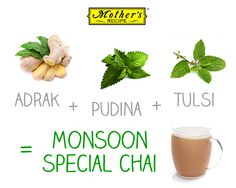 Imagine sipping into garma garam adrak chai while you're sitting on the window and enjoying rains! Bliss, right? Adrak + Pudina + Tulsi = Monsoon special chai
