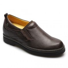 2013 Hot Sale increasing height  7CM Brown Calfskin Leather Casual elevate shoes