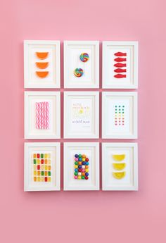 DIY Framed Candy | Damask Love