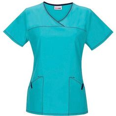 Scrubstar Aqua Crush V-Neck Scrub Top, Adult Unisex, Size: Medium, Blue Scrub Suit Design, Stitch 2, Scrub Pants, Scrub Tops, Top Stitching, Scrubs, Crushes, Short Sleeve Dresses, Walmart