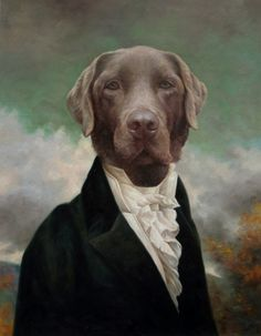 Anthropomorphic animals - Commission Anthropomophic dog paintings hand painted by top dog artists. Beautiful anthropomorphic art, custom made. Costume Chien, Les Fables, Dog Artist, Photocollage, Popular Art, Artist Portfolio, Animal Heads, Dog Portraits, Types Of Art
