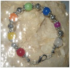 Beautiful Handmade Silver Chakra Bracelet with 7 Gemstones by IreneDesign2011 in my Etsy shop Do you like this bracelet? I would appreciate to know, thank you ;-) Have a wonderful day Irene