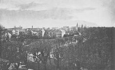 Kig fra Marienlyst slot indover Helsingør..hvor bl.a. gasværket ses til venstre