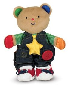 K's Kids Teddy Wear Toddler Learning Bear by Melissa & Doug expands the possibilities of a basic plush toy to a developmental/learning toy! Learning Toys For Toddlers, Toddler Learning, Toddler Preschool, Toddler Toys, Kids Toys, Preschool Activities, Baby Toys, Kids Line, Developmental Toys