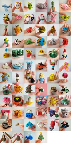 Tiny knitted stuff by Anna Hrachovec