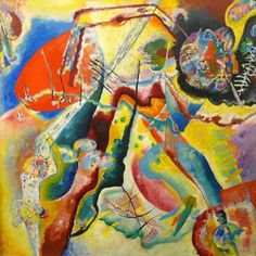 Kandinsky  painting with red spots  1914